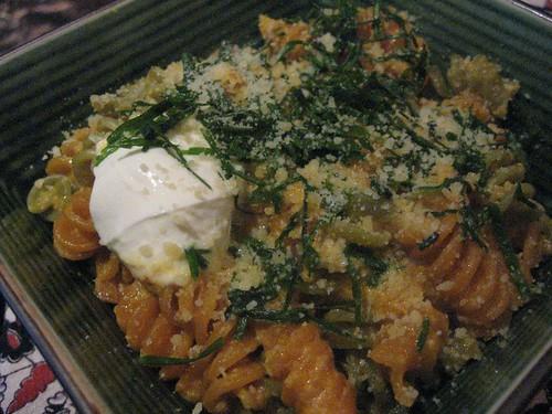 pasta with carrot-jalapeño syrup