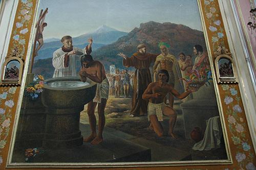 Acambaro - 07 Third Painting in Templo del Hospital