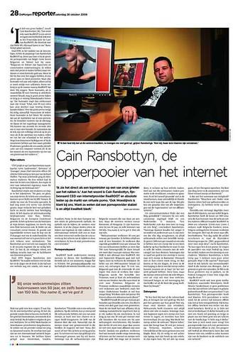 Cain Ransbottyn, de opperpooier van het Internet