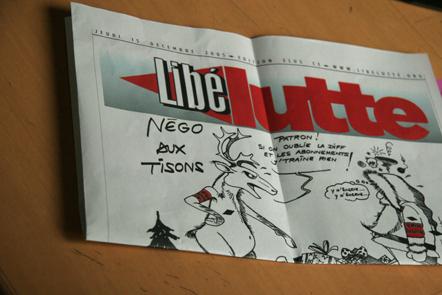 Libélutte, fanzine édité lors des grèves de 2006
