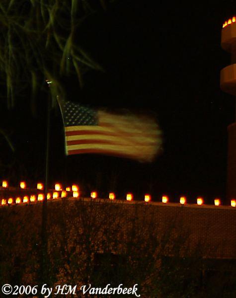 Patriotic Luminarias