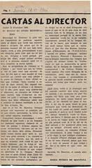 Carta al director 1966