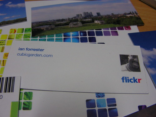 My Flickr business card