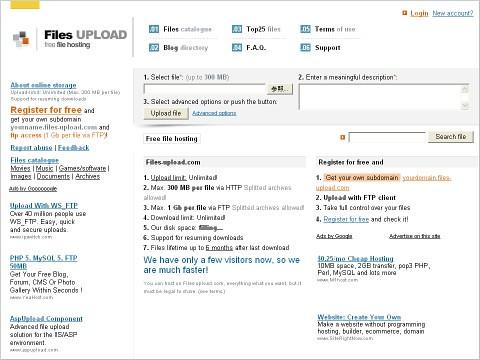 [網站推薦] 無限容量的免費網路硬碟 - Files Upload 298261492_be730096fa