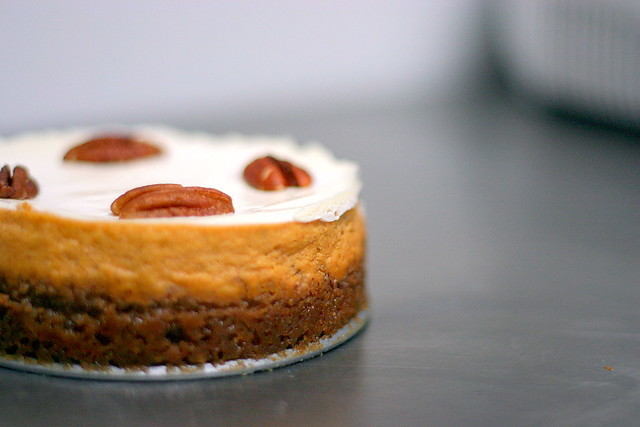 boubon pumpkin cheesecake