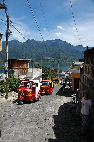 Lago Atitlan San Pedro - 07 Tuktuks in San Pedro