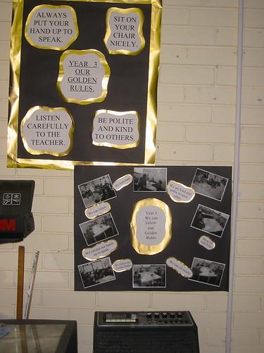 Classroom Line Up Ideas ~ Golden rules classroom displays