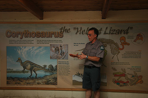 Dinosaur Park - Fred and Corythosaurus