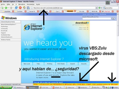 Microsoft Virus IE7