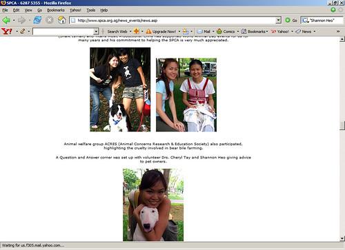 Found myself on SPCA website.. demonstrating SIT!