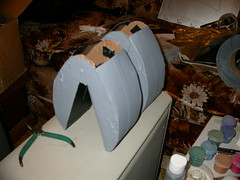 Robot costume - grippers getting some paint