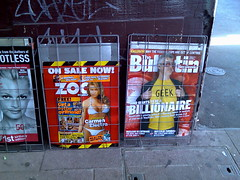 Cam's Bulletin cover outside a newsagent on Glenferrie rd