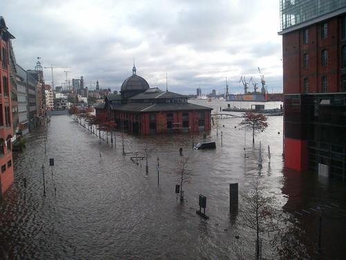 Hamburg, flooded.