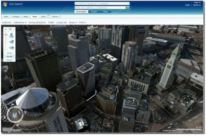 Microsot Virtual Earth 3D