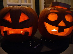 a couple of pumpkins