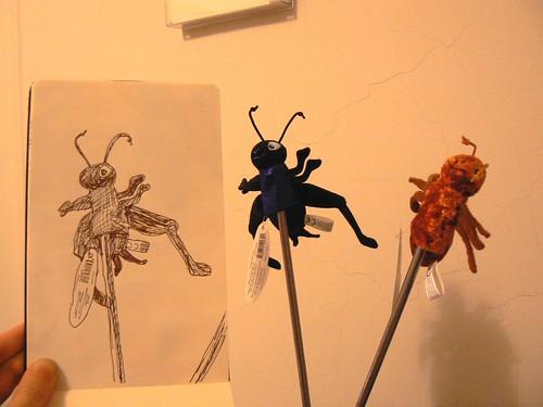 Bug Puppet x 3