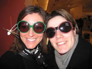 Linda and Gwen at Harrods