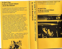 'It Don't Pay To Be An Honest Citizen' US NTSC VHS Tape