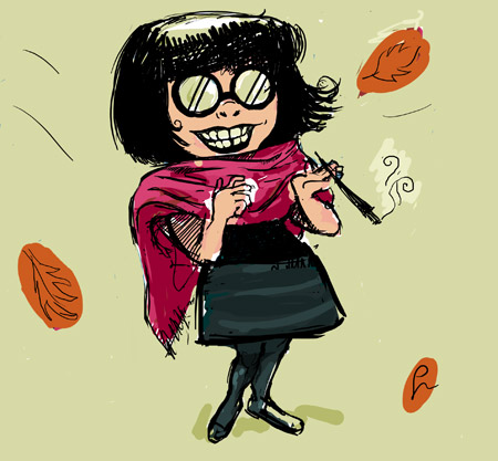 Edna Mode Sketch - winter vacation