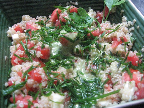 quinoa salad with lime-chile vinagrette