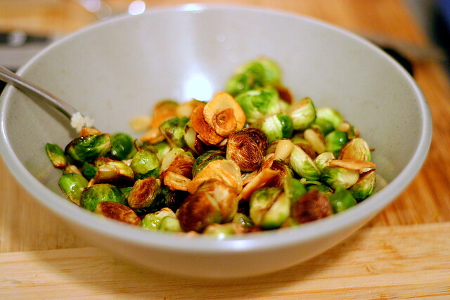 pan-browned baby brussels