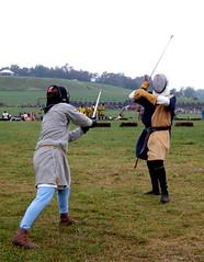 13th century judicial duel vs. 14th century German longsword (by sarahmichelef)