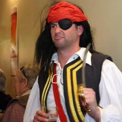 pirate with sword aaaaand beer