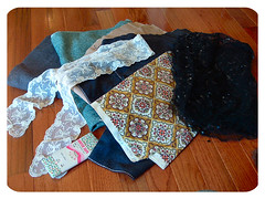 mish-mash of vintage fabrics