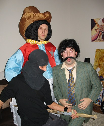 A Ninja, a Fat Cowboy and Borat walk into a bar...