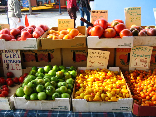 farmer's market:  last tomatoes of the season