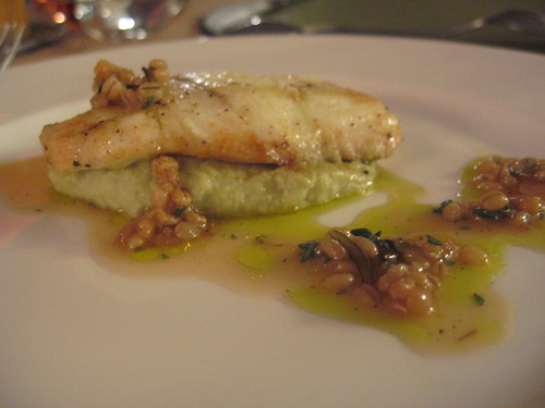 Dissident Chef-6th course: east coast fluke w/ broccoli romanesque puree