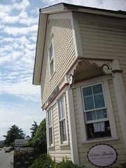 Quaint Victorian homes in Friday Harbor, San Juan Islands, Washington State