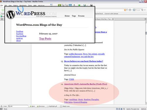 Top Posts - Feb 25 2007 (WordPress)