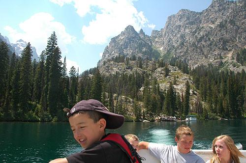 Grand Teton - Sailing Back from Hidden Falls Hike