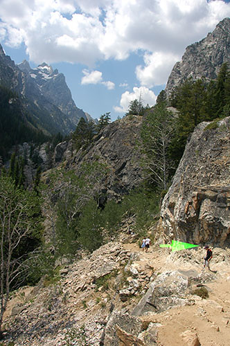 Grand Teton - Nadav Descending from Inspiration point