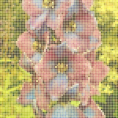 Flower bead art