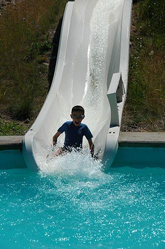 Big Sky Waterpark - Nadav in Kiddie Slide