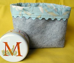 Wool box and candle tin for Maravic