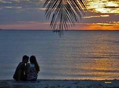 A couple during Sunset - Love is in the air!