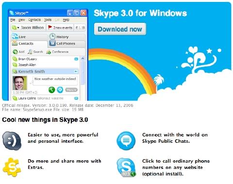 Skype3 screenshot