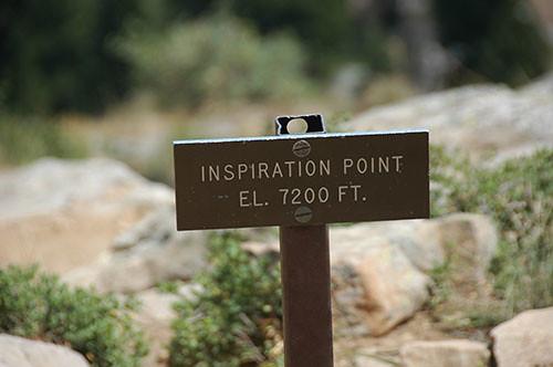 Grand Teton - Inspiration Point Sign