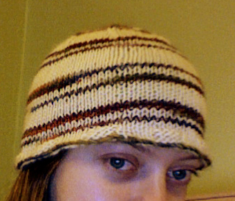 Self-Striping Yarn Hat