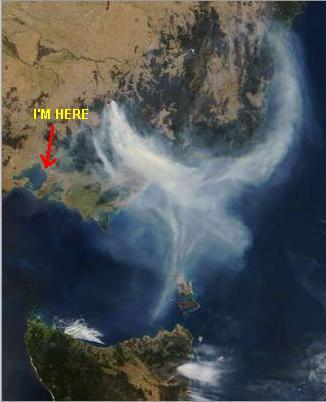 bushfire satellit image
