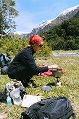 Lunch, below French Ridge Hut