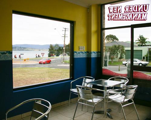 Metzis Tasty Takeaway with view of Lake Illawarra