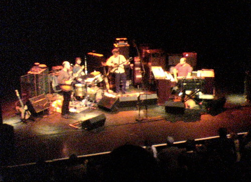 Medeski Scofield Martin and Wood on stage at the Vic