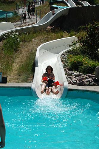 Big Sky Waterpark - Nurith and Ohad in Kiddie Slide