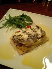 カキ ポワロー シェブールチーズのタルト タイム風味