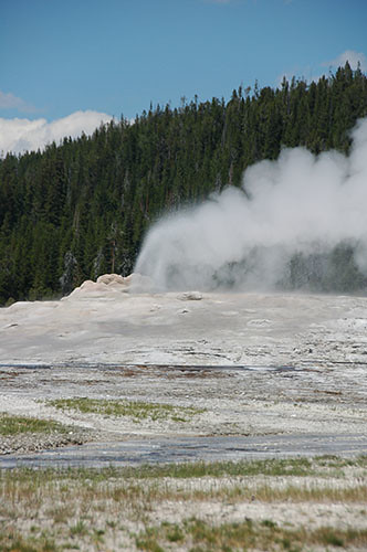 Yellowstone Old Faithful - Old Faithful Gone