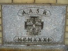 Mason Plaque - 1931 by Harpo42